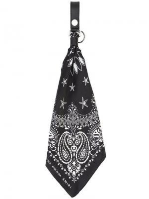 Брелок с шарфом-банданой Amiri. Цвет: чёрный