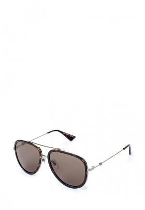 Очки солнцезащитные Gucci. Цвет: коричневый