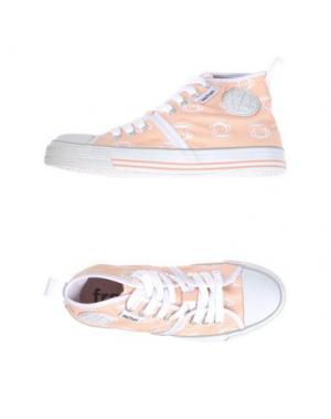 Высокие кеды и кроссовки PAUL FRANK. Цвет: лососево-розовый