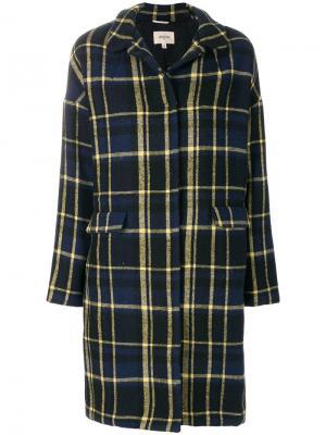 Пальто в клетку Bellerose. Цвет: синий