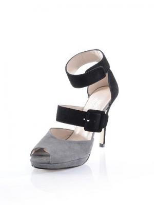 Сандали ALBA MODA. Цвет: серый + черный