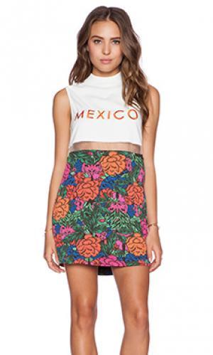 Мини-платье с цветочным рисунком mexico city Casper & Pearl. Цвет: оранжевый