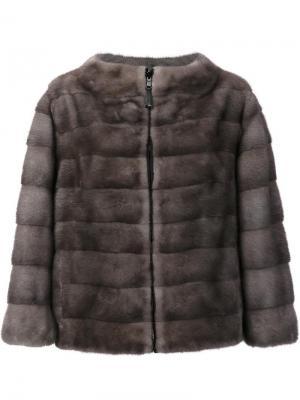 Меховая куртка из меха норки J. Mendel. Цвет: серый
