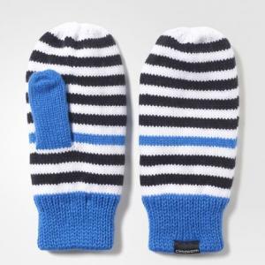 Варежки Striped Climawarm  Performance adidas. Цвет: черный