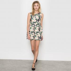 Платье с цветочным принтом MOLLY BRACKEN. Цвет: черный/рисунок цветочный