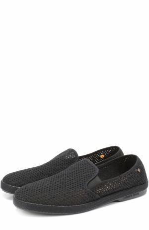 Плетеные текстильные эспадрильи Rivieras Leisure Shoes. Цвет: черный