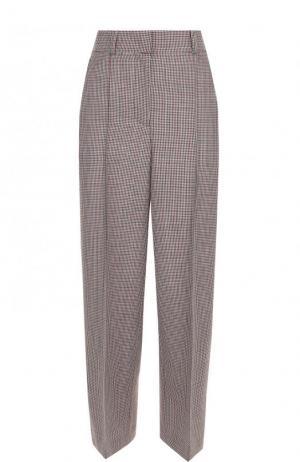 Укороченные шерстяные брюки со стрелками Racil. Цвет: красный