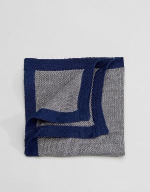 Selected Homme Трикотажный платок для пиджака. Цвет: серый