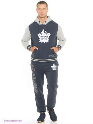 Худи NHL Maple Leafs Atributika & Club. Цвет: серый, синий