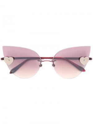 Солнцезащитные очки Loree Rodkin Kiss Sama Eyewear. Цвет: красный