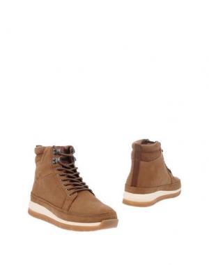 Полусапоги и высокие ботинки BOXFRESH. Цвет: коричневый