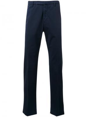 Костюмные брюки Incotex. Цвет: синий