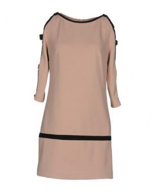 Короткое платье LUNATIC. Цвет: песочный