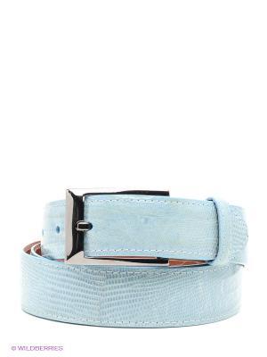 Pемень Pan American leather. Цвет: голубой