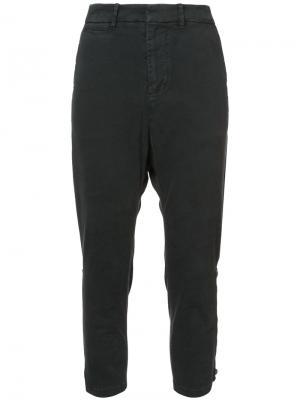 Укороченные брюки с заниженным шаговым швом Nili Lotan. Цвет: чёрный