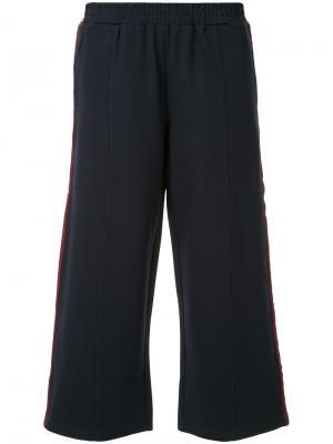 Укороченные спортивные брюки The Upside. Цвет: синий