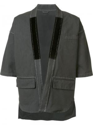 Куртка с короткими рукавами Wooster + Lardini. Цвет: зелёный