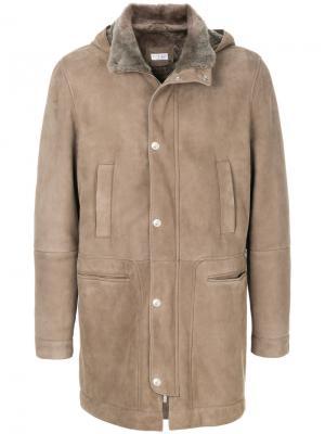 Куртка с панельным дизайном и капюшоном Brunello Cucinelli. Цвет: телесный
