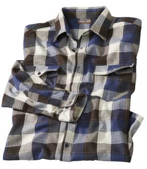 Фланелевая Рубашка AFM. Цвет: в-клетку