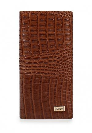 Кошелек Fabretti. Цвет: коричневый