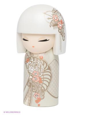 Кукла-талисман с кристаллами Swarovski Акийо Kimmidoll. Цвет: белый, кремовый