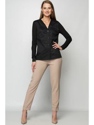 Блузка Formalab. Цвет: черный