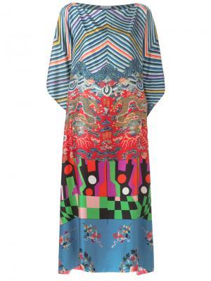 Printed maxi dress Pierre-Louis Mascia. Цвет: синий
