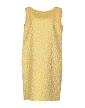 Платье до колена CORTE DEI GONZAGA. Цвет: желтый