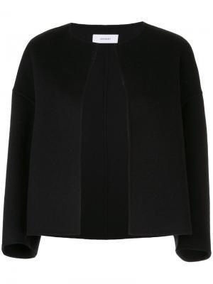 Структурированный пиджак без воротника Astraet. Цвет: чёрный