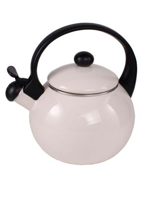 Эмалированный чайник 2,2 л с индукционным дном AMBITION. Цвет: бежевый