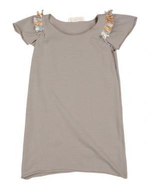 Платье LE PETIT COCO. Цвет: голубиный серый