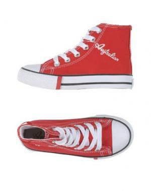 Высокие кеды и кроссовки AUSTRALIAN. Цвет: красный