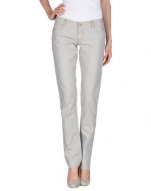 Джинсовые брюки AMY GEE. Цвет: серый