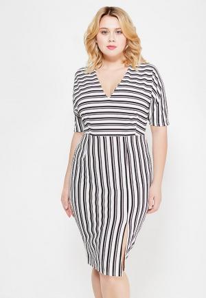 Платье Just Joan. Цвет: черно-белый