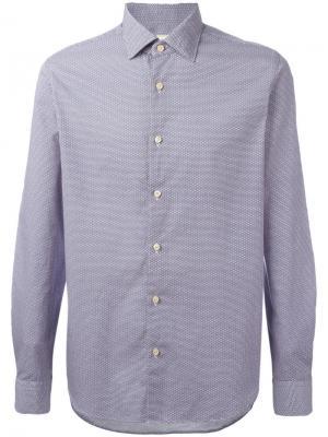 Рубашка с узором из кругов Xacus. Цвет: синий