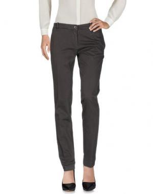 Повседневные брюки YUKO. Цвет: свинцово-серый