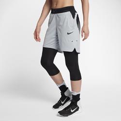 Женские баскетбольные шорты  20,5 см Nike. Цвет: серый