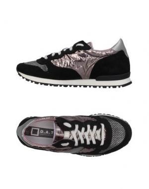Низкие кеды и кроссовки D.A.T.E.. Цвет: черный
