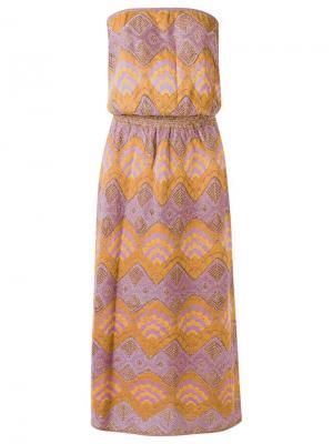 Knit midi dress Gig. Цвет: жёлтый и оранжевый