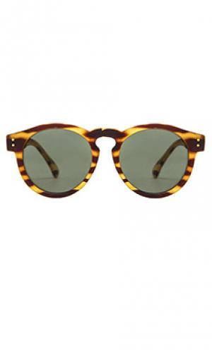 Солнцезащитные очки черепаховый цвет clement Komono. Цвет: коричневый