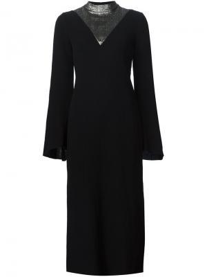Платье с контрастной деталью Ellery. Цвет: чёрный