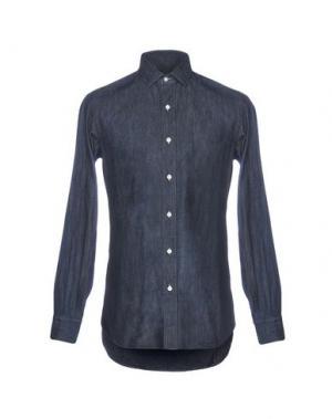 Джинсовая рубашка SALVATORE PICCOLO. Цвет: синий