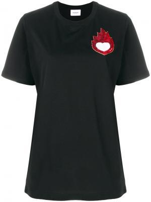 Sequin detail T-shirt Dondup. Цвет: чёрный