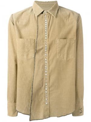 Вельветовая рубашка Golden Goose Deluxe Brand. Цвет: телесный