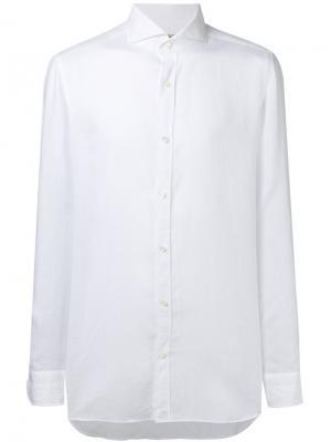 Классическая рубашка Borrelli. Цвет: белый