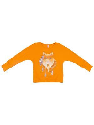 Джемпер для девочки KOGANKIDS. Цвет: оранжевый