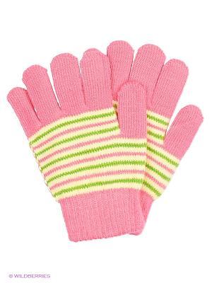 Перчатки Mini. Цвет: белый, розовый