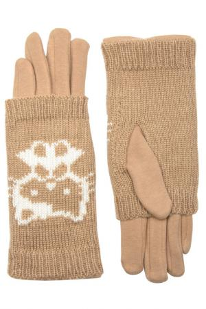 Перчатки Stella. Цвет: бежевый