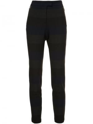 Полосатые брюки Stellan Veronica Beard. Цвет: серый