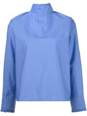 Блузка с отворотной горловиной Atlantique Ascoli. Цвет: синий